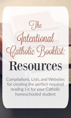 The Intentional (Catholic) Booklist Resources