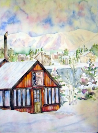 Worst Western Snowy Fraser, Colorado winter painting