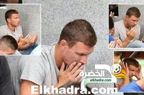 صورة ادين دزيكو وهو يقوم بأداء صلاة الجمعة حديث مواقع التواصل الاجتماعي
