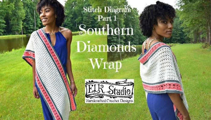 Southern Diamonds Wrap Stitch Diagram Part 1