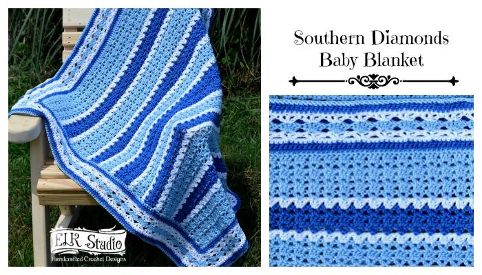 Southern Diamonds Baby Blanket CAL/Week 4