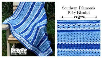Southern Diamonds Baby Blanket CAL/Week 3