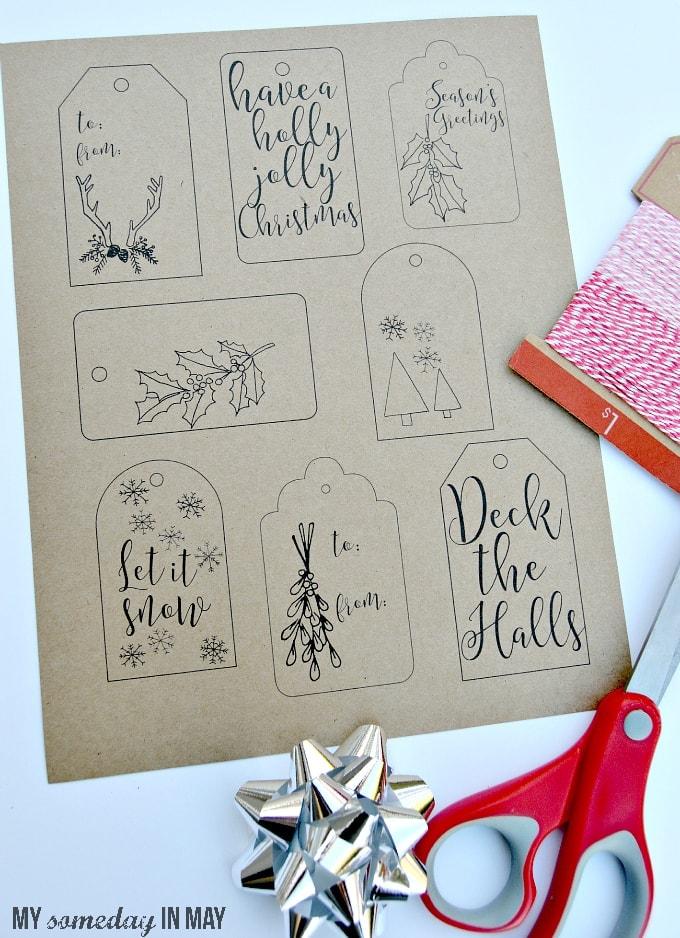 Free Printable Christmas Gift Tags - Ella Claire