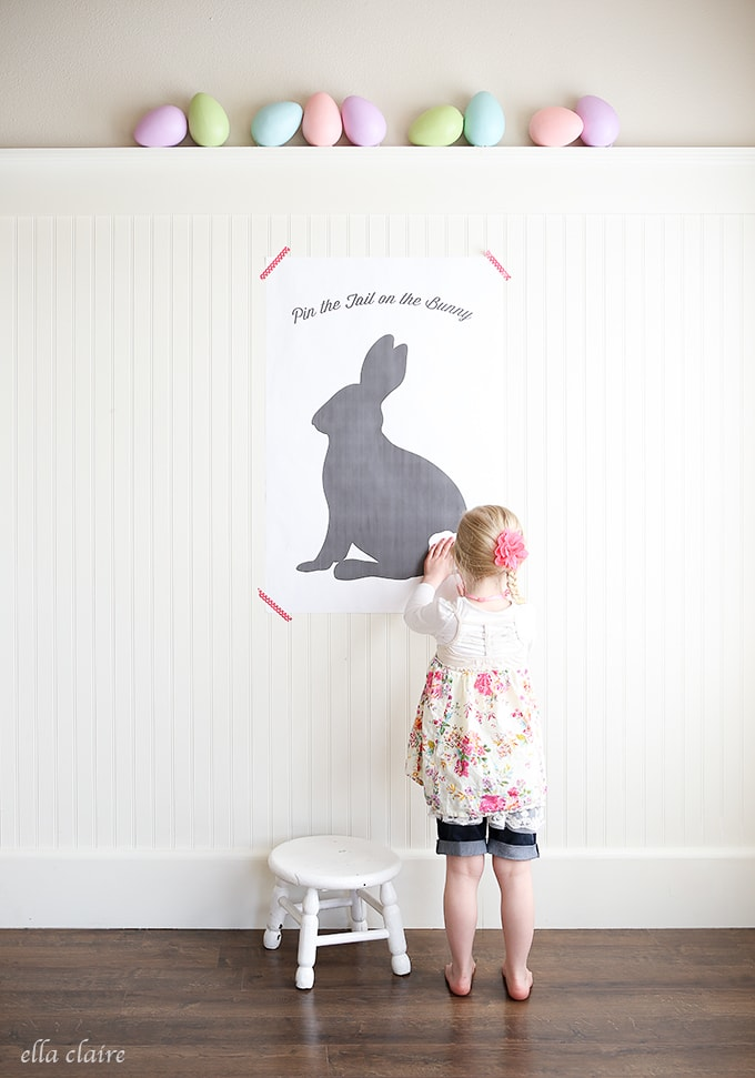 Pin the Tail on the Bunny Free Easter Printable - Ella Claire