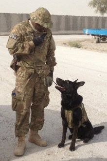 Dinomt & MA1 Williams in Afghanistan.