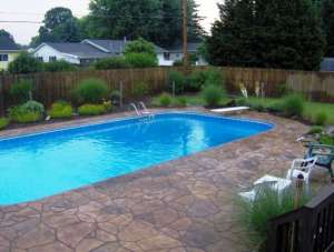 Knox County Stamped Concrete Pool Deck
