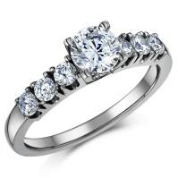 Titanium Solitaire Engagement & Wedding Ring Set - Bridal ...