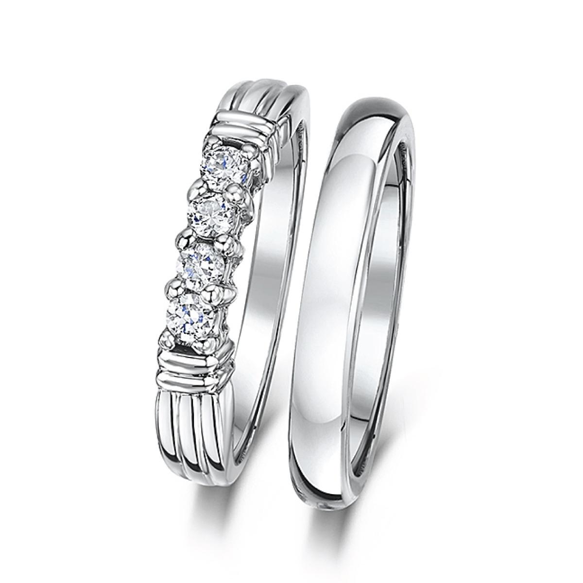 bridal ring sets c cobalt wedding rings Cobalt 3mm Engagement Eternity Wedding Band Bridal Set Rings