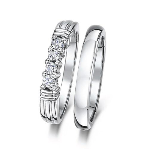 bridal ring sets c cobalt wedding bands Cobalt 3mm Engagement Eternity Wedding Band Bridal Set Rings
