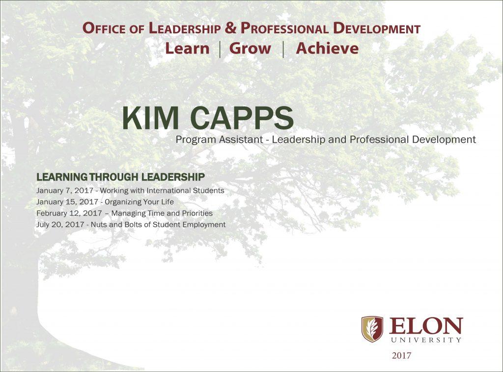 Elon University / Office of Leadership  Professional Development