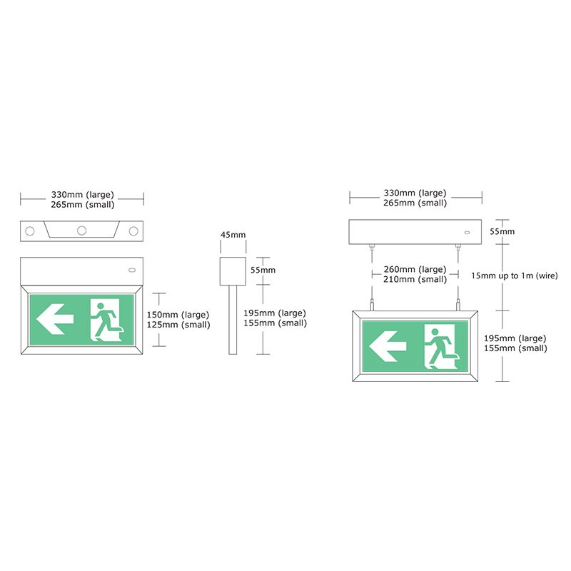 exit sign wiring diagram mexodus architecturalled exit signs