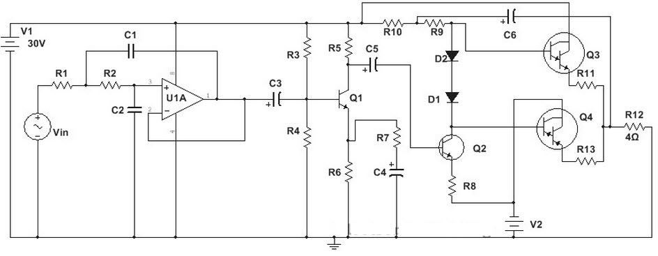 100W Subwoofer Amplifier Circuit and Applications