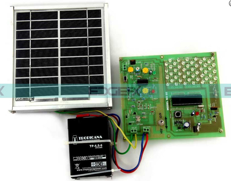 Solar Powered LED Street Light with Auto Intensity Control