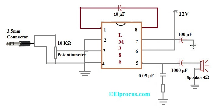 IC LM386 Pin Configuration, Circuit Diagram, Features and Applications
