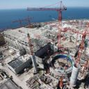 EPR nuclear reactor being built in Flamanville, France