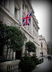 The British Flag, a familiar sight in London.