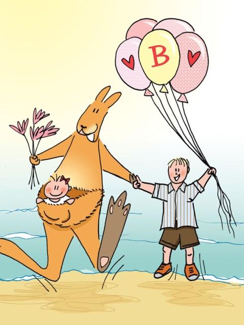 geboortekaartje kangaroe