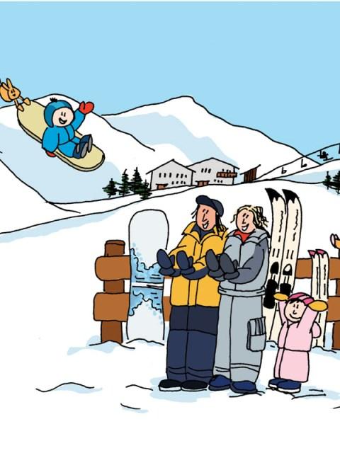 geboortekaartje skifamilie