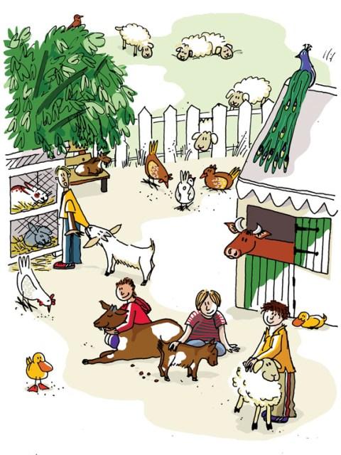 Illustraties kinderboerderij