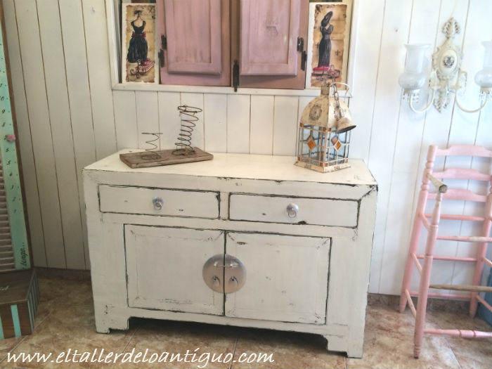 Como cambiar el color a un mueble el taller de lo antiguo - Pintar mueble bano ...