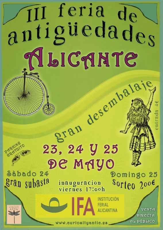 cartel_feria antiguedades alicante