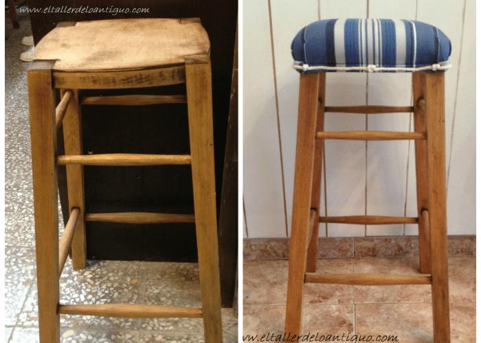 Como tapizar una silla el taller de lo antiguo - Muebles para tapizar ...
