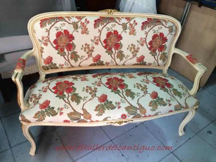 Recuperar un sof cl sico el taller de lo antiguo - Recuperar muebles antiguos ...
