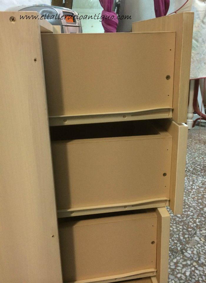 Como pintar muebles de melamina el taller de lo antiguo for Muebles melamina