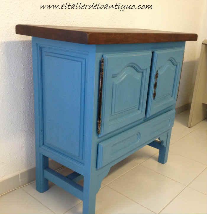 6--Pintamos-en-Azul-Altea-un-Mueble-de-Tele