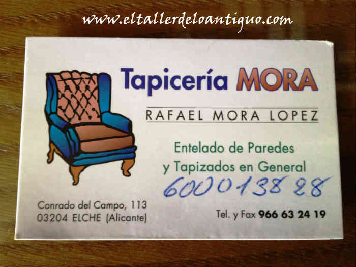 Como tapizar una silla el taller de lo antiguo - Tapiceros en badalona ...