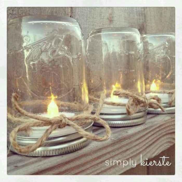 decora con velas y  cristal
