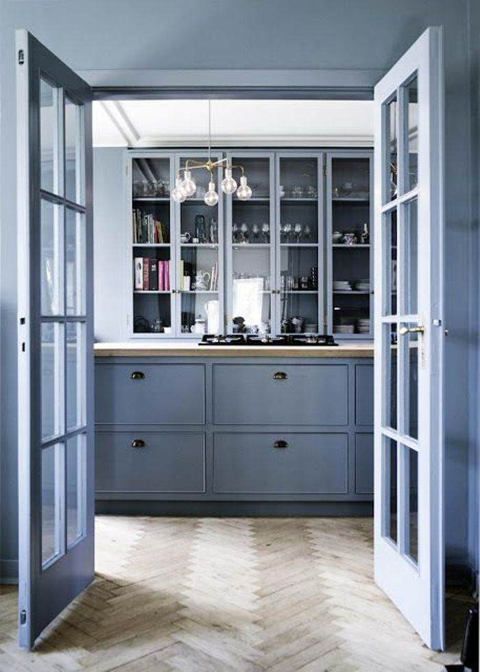 lavender blue painting kitchen