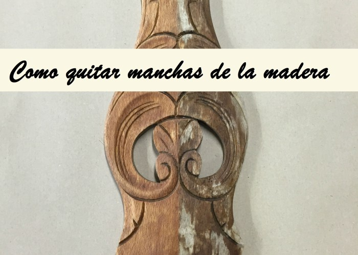 portada quitar manchas de la madera