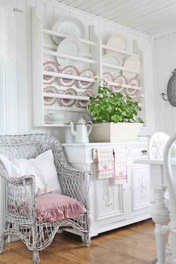 Shabby chic white blanco el taller de lo antiguo for Comedor vintage blanco