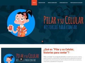 Pilar y su Celular