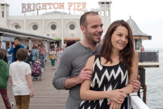 seaside engagement photography brighton pier