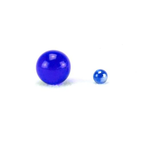 Produktbild Glaskugel blau, beruhigend