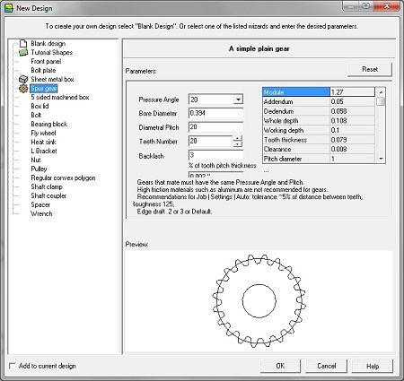 Free Gear Design Software Gear Creator eMachineShop
