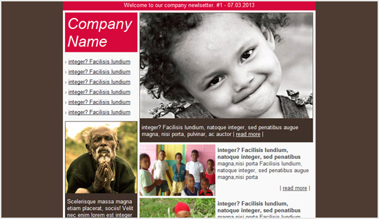 Charity email newsletter templates Email newsletter templates - newsletter sample templates