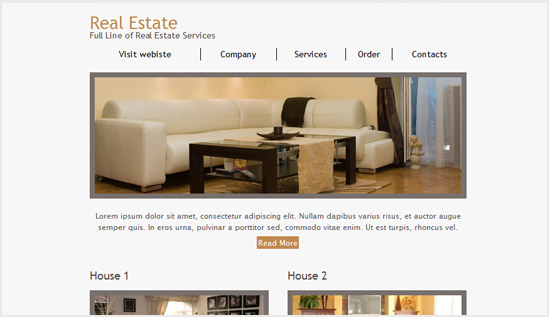 Real estate email newsletter templates Email newsletter templates