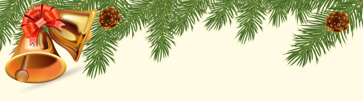 Christmas email stationery (stationary) Santa Merry Christmas - merry christmas email banner