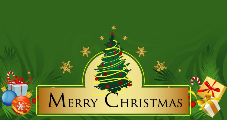 Christmas email stationery (stationary) Merry Christmas Banner