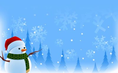 Winter email stationery (stationary): Season's Greetings Wishes