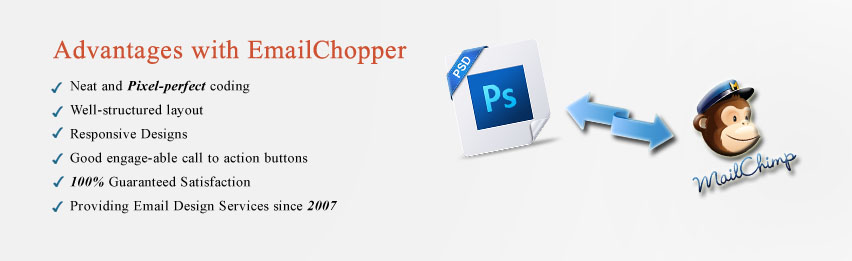 PSD to MailChimp HTML Email Template Conversion Email Chopper