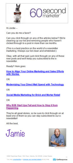 Email Newsletter Examples - A collaborative email examples