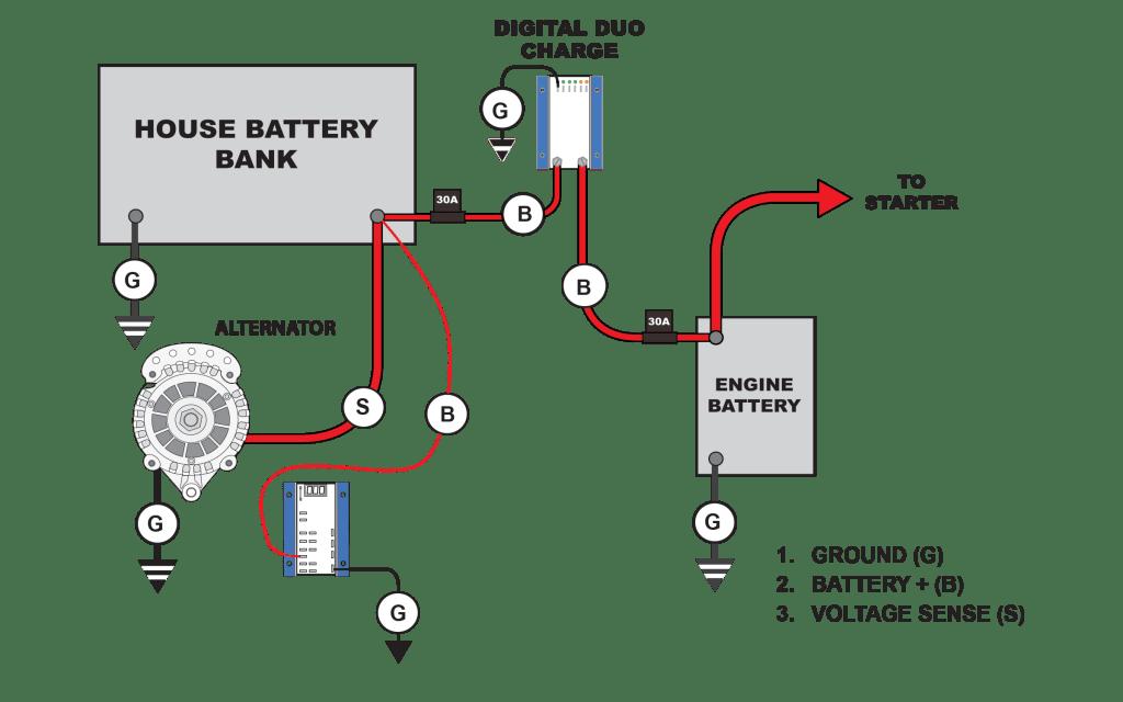 battery wiring chart