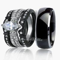 Black Wedding Ring Sets