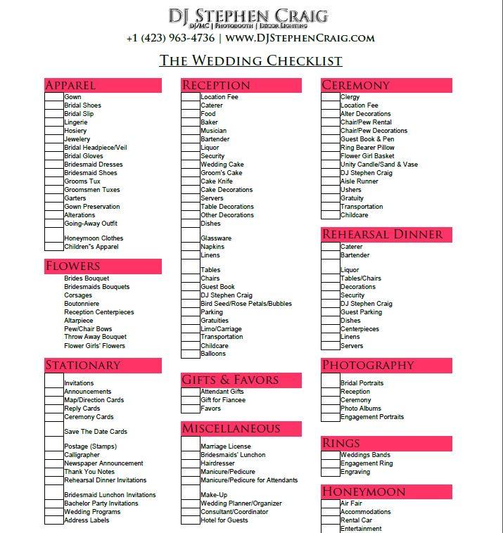 Stunning 6 Month Wedding Planning Checklist Ideas - Styles  Ideas - wedding checklist