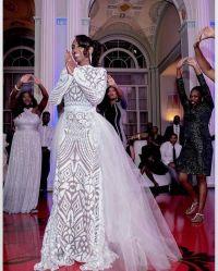 African White Wedding Dress