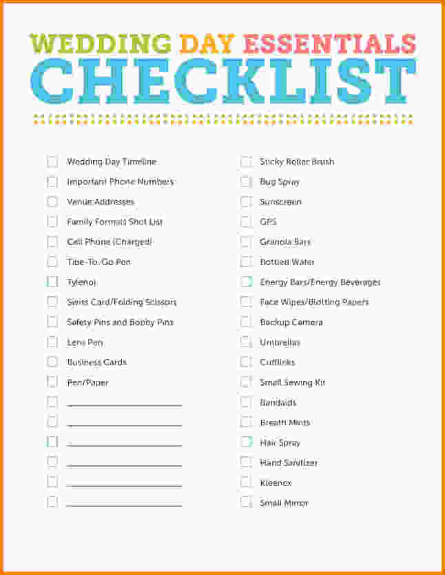 Wedding Planner Checklist Pdf - wedding checklist pdf